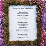 fairies in the forest twilight soiree moss and rose petal embellished framed menu