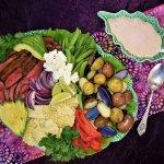 mexicali steak salad platter