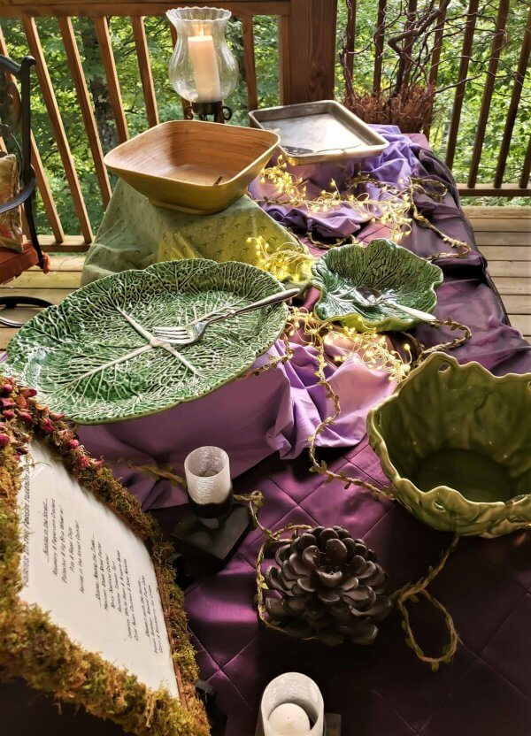 fairies in the forest twilight soiree buffet set up