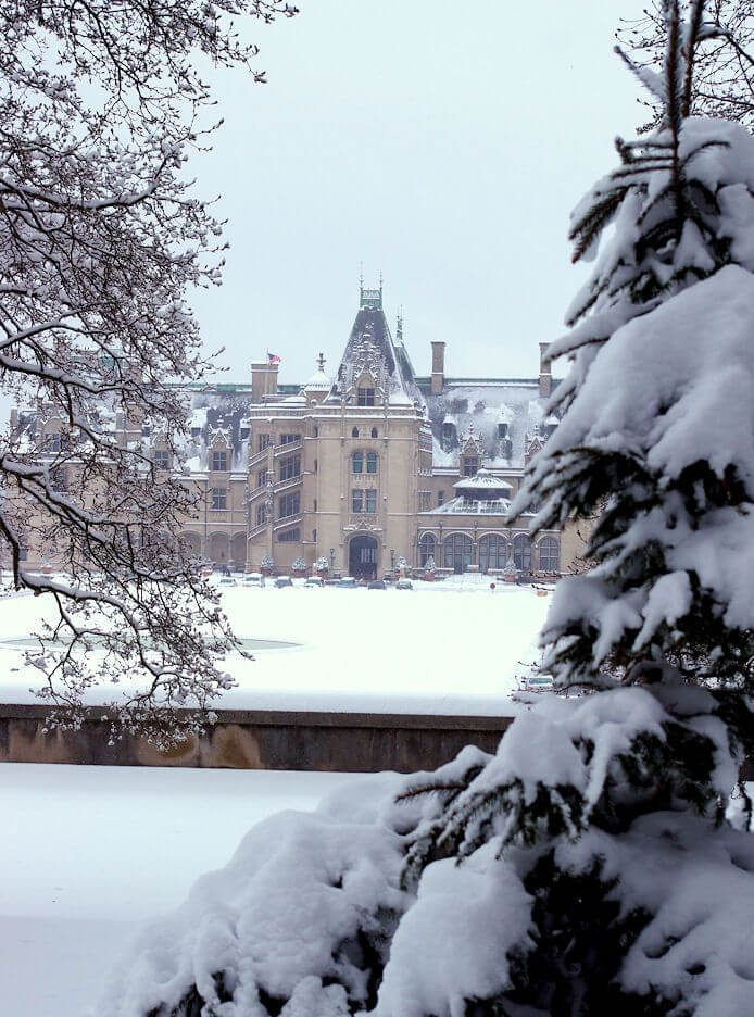 biltmore house in winter