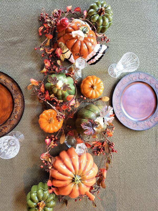 fall dining table decorations