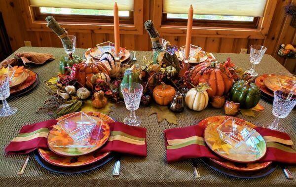 fall all-season-long tablescape display