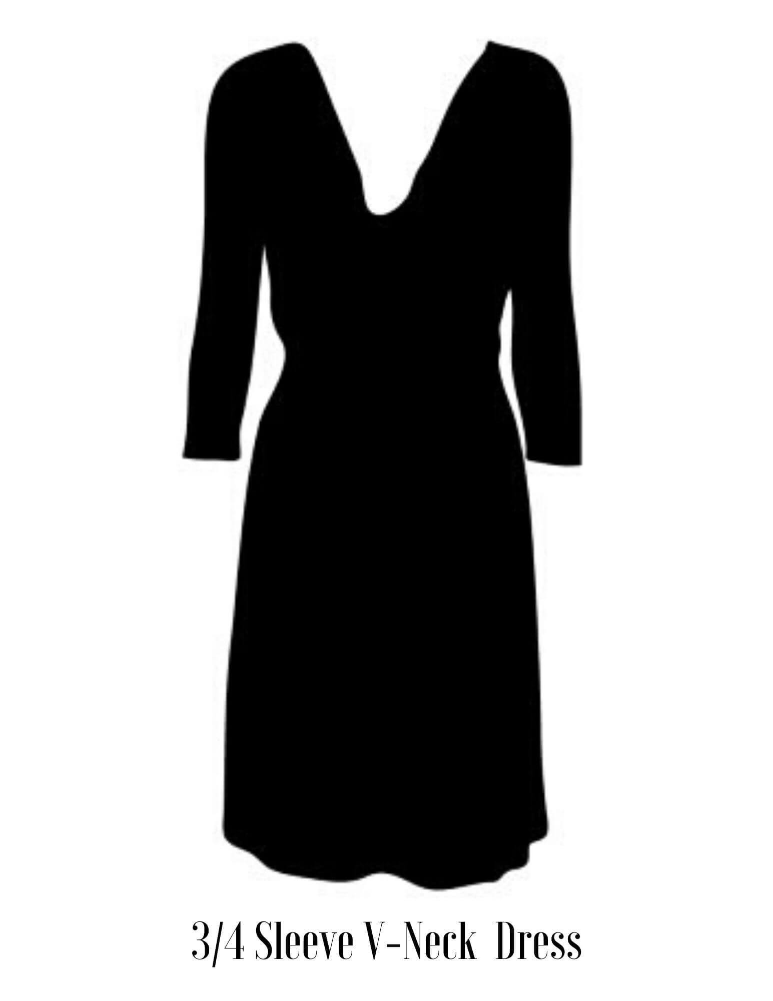 3/4 sleeve dress vector