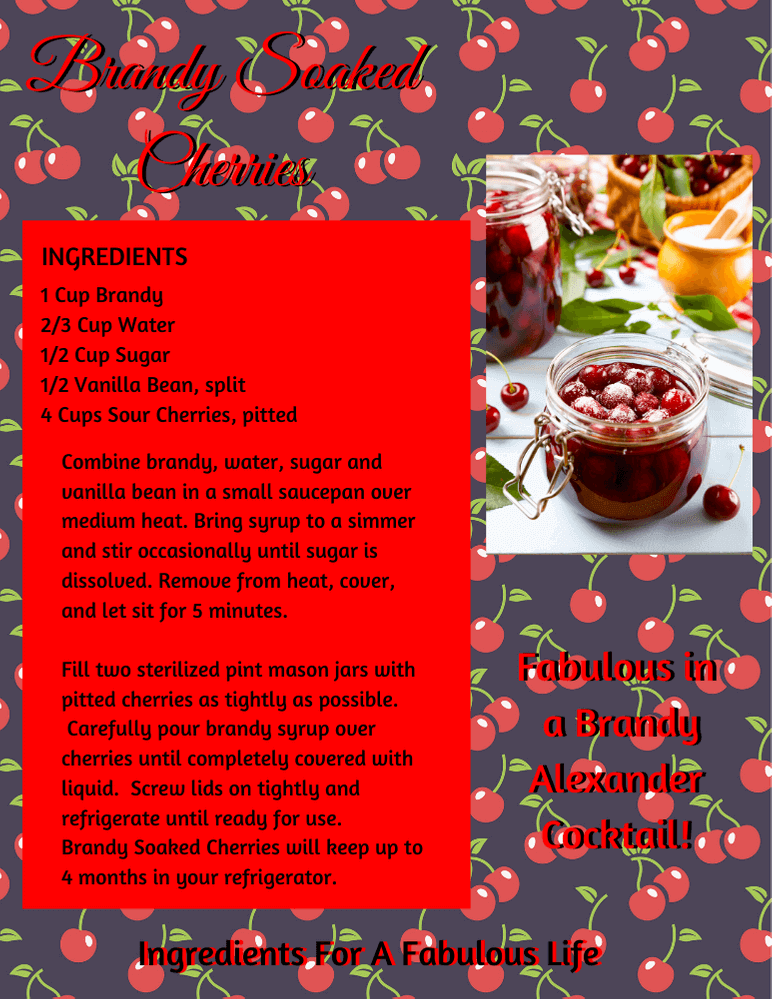 brandy soaked cherries recipe pdf