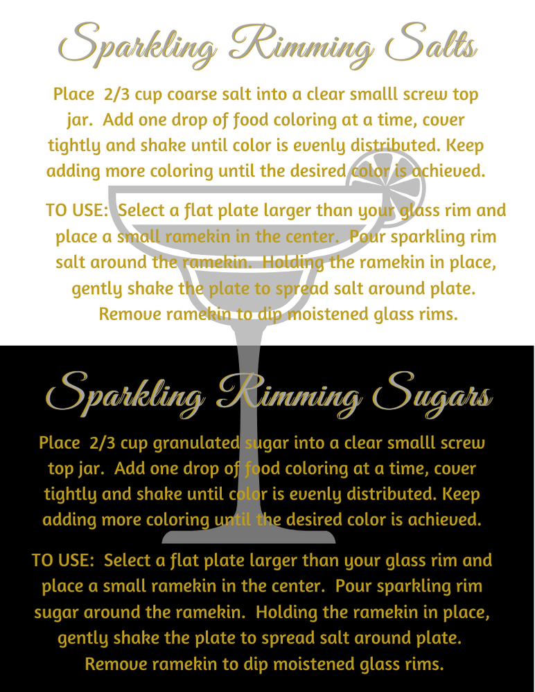 sparkling rimming salts and sugars recipe