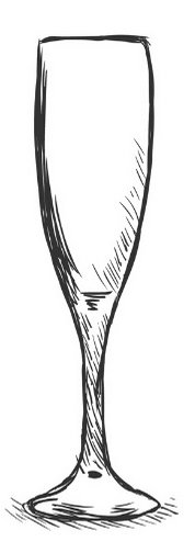 champagne flute drawing