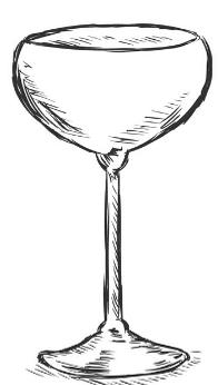 margarita glass drawing