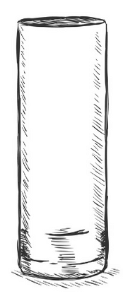 tall collins glass drawing