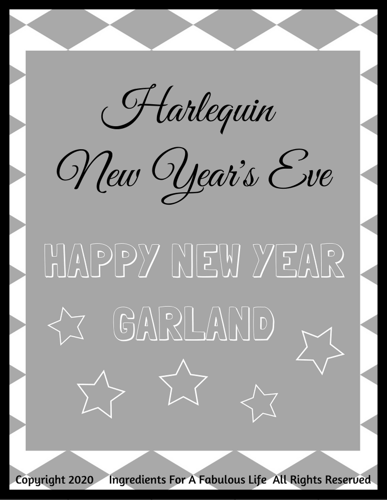 new year's eve downloadable garland