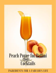 peach puree for bellini cocktails recipe card