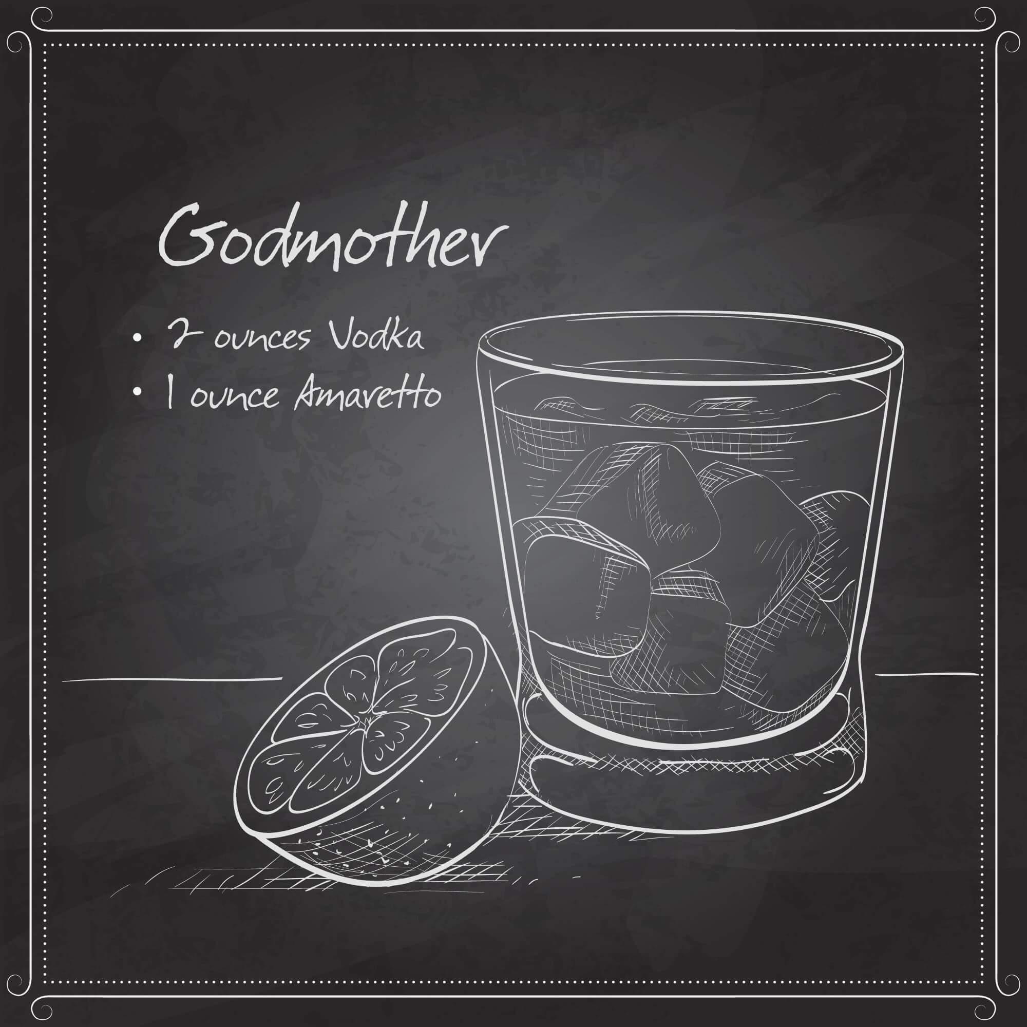 homemade amaretto liqueur godmother cocktail