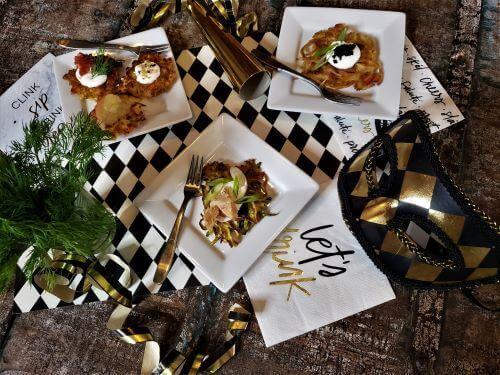 gourmet latkes for hannukah and new years eve