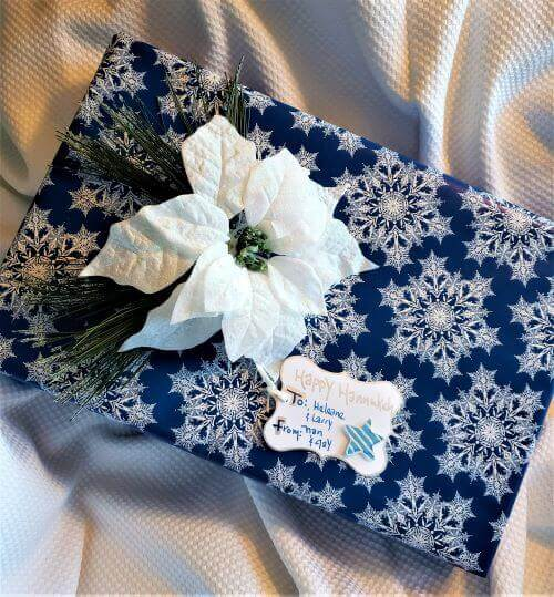 hannukah wrapped gift