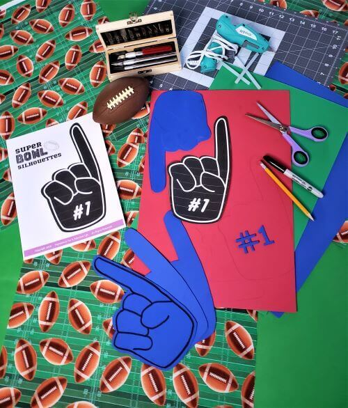 super bowl foam finger project