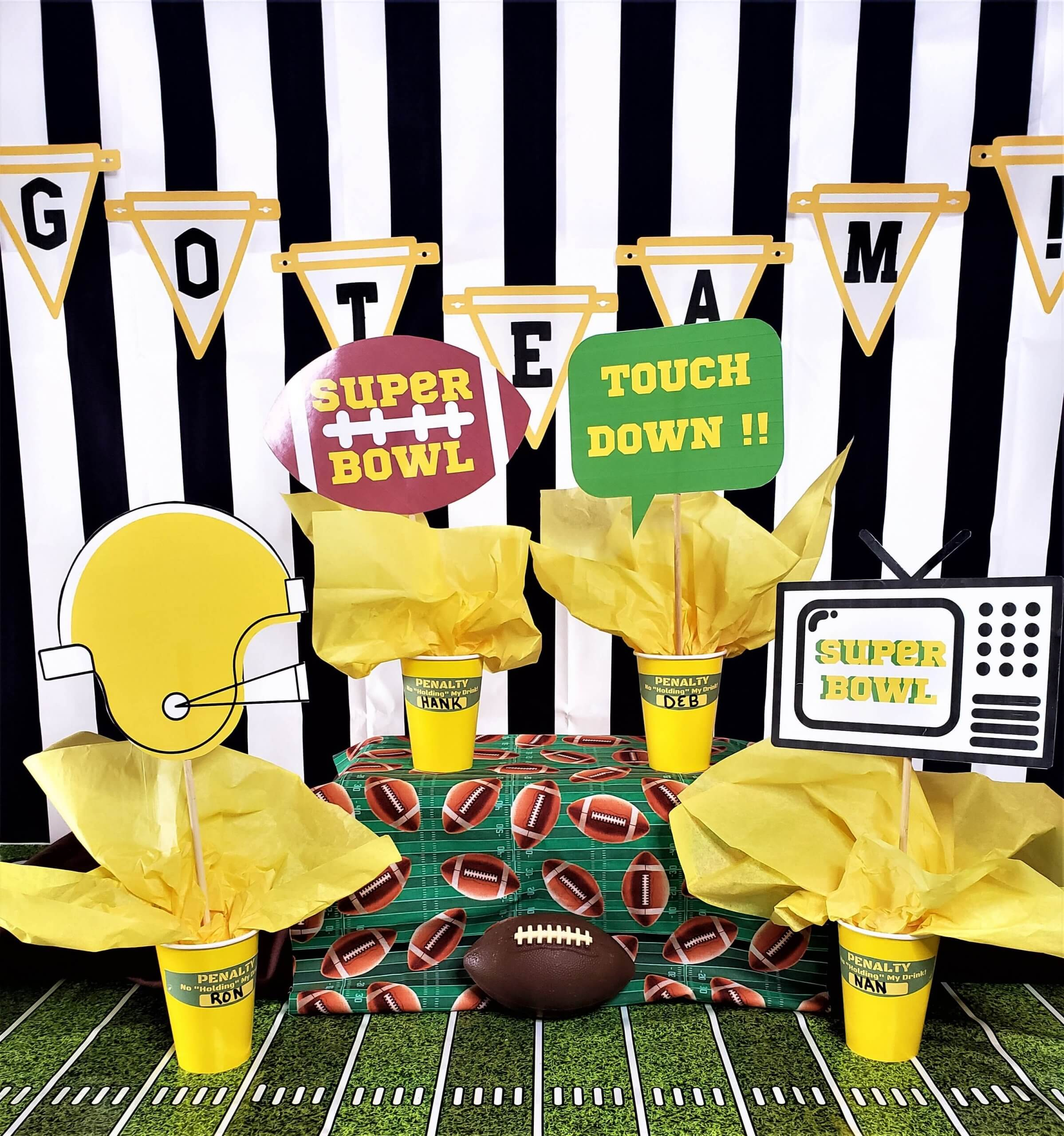 throw a customized super bowl party