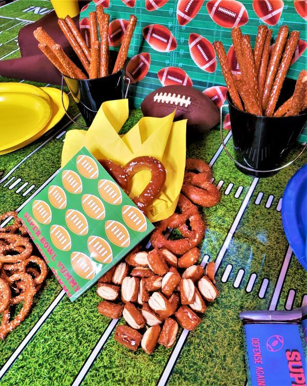 super bowl hot pretzel bag printable