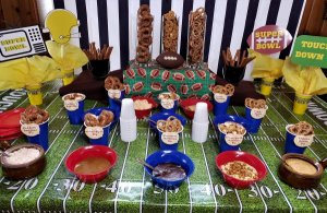 super bowl pretzel dipping bar