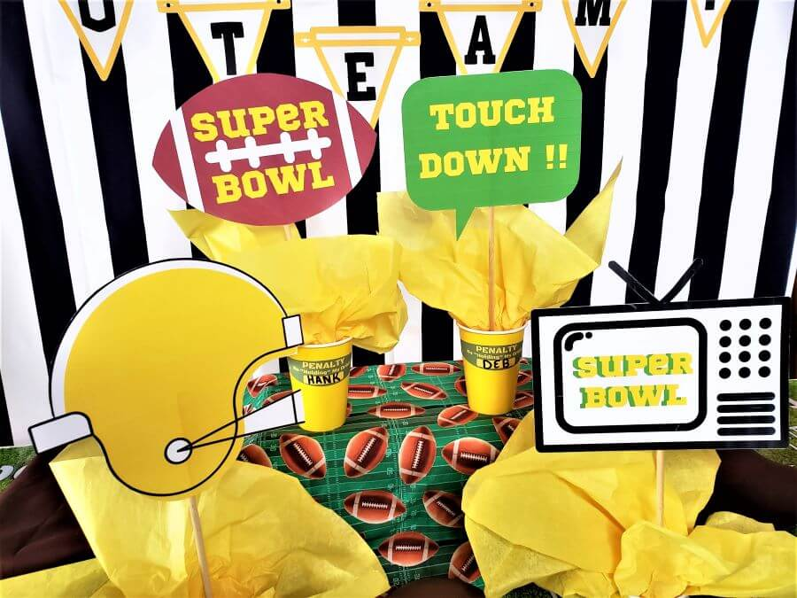 super bowl photo props