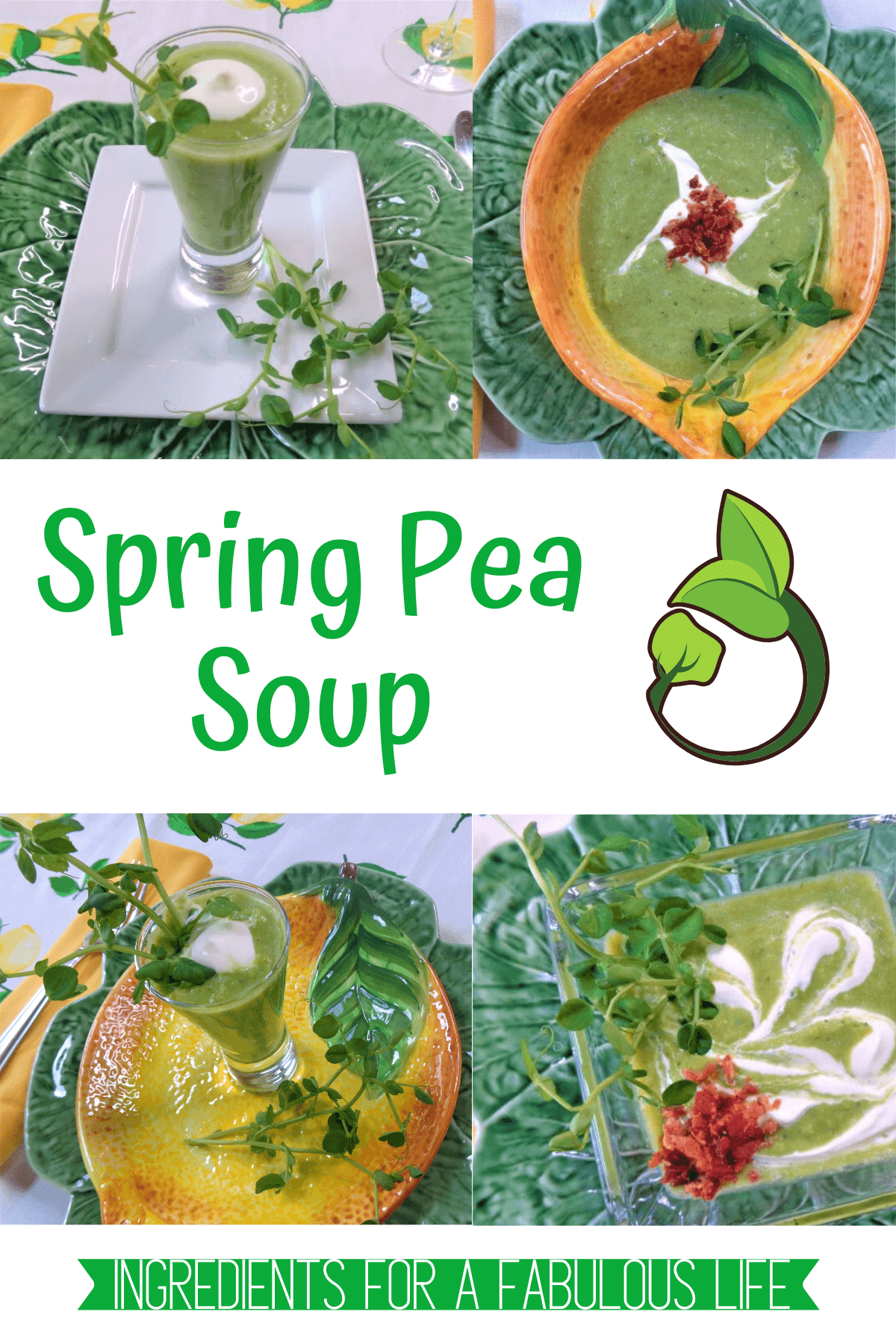 spring pea soup with creme fraiche