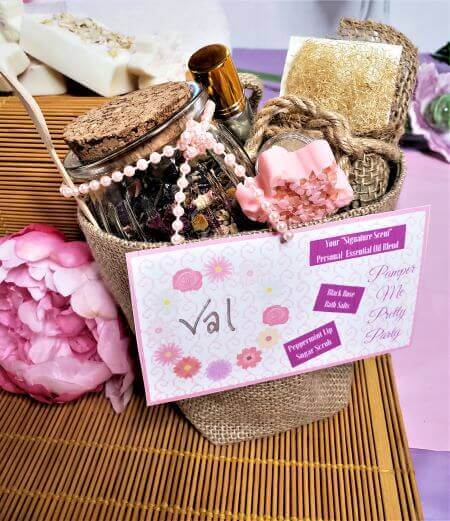 pamper me pretty party swag bag