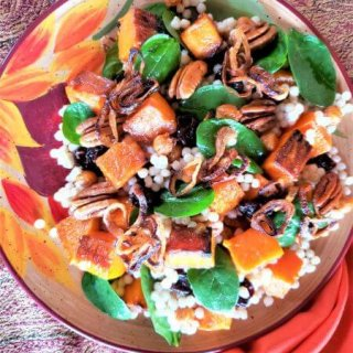 Winter Greens and Carmelized Butternut Squash Couscous Salad