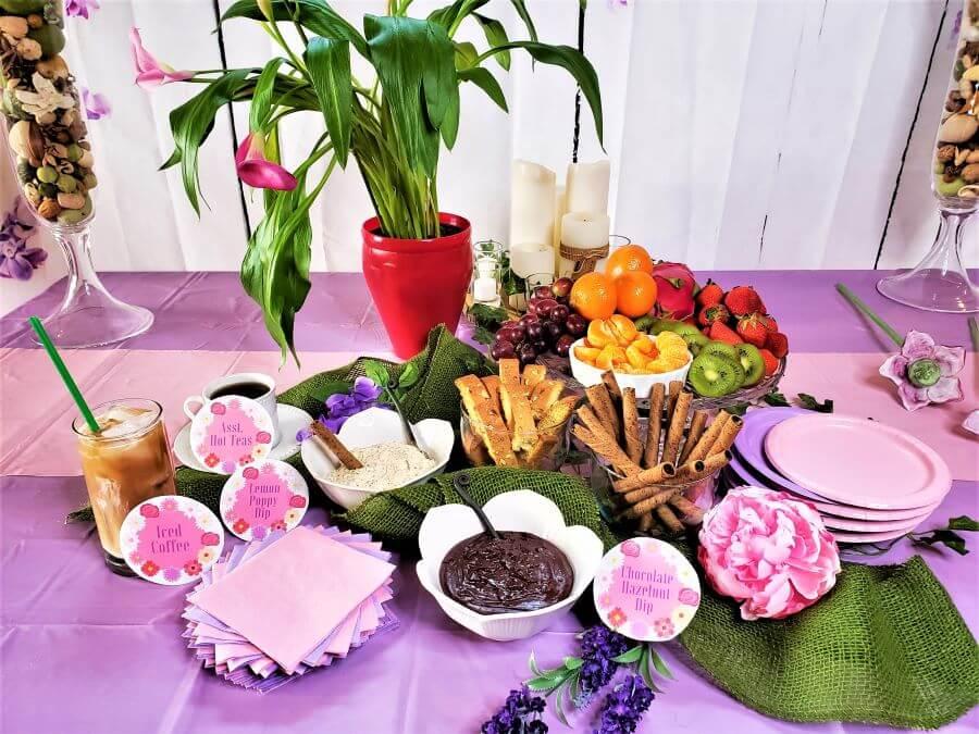 pamper me pretty party dessert buffet