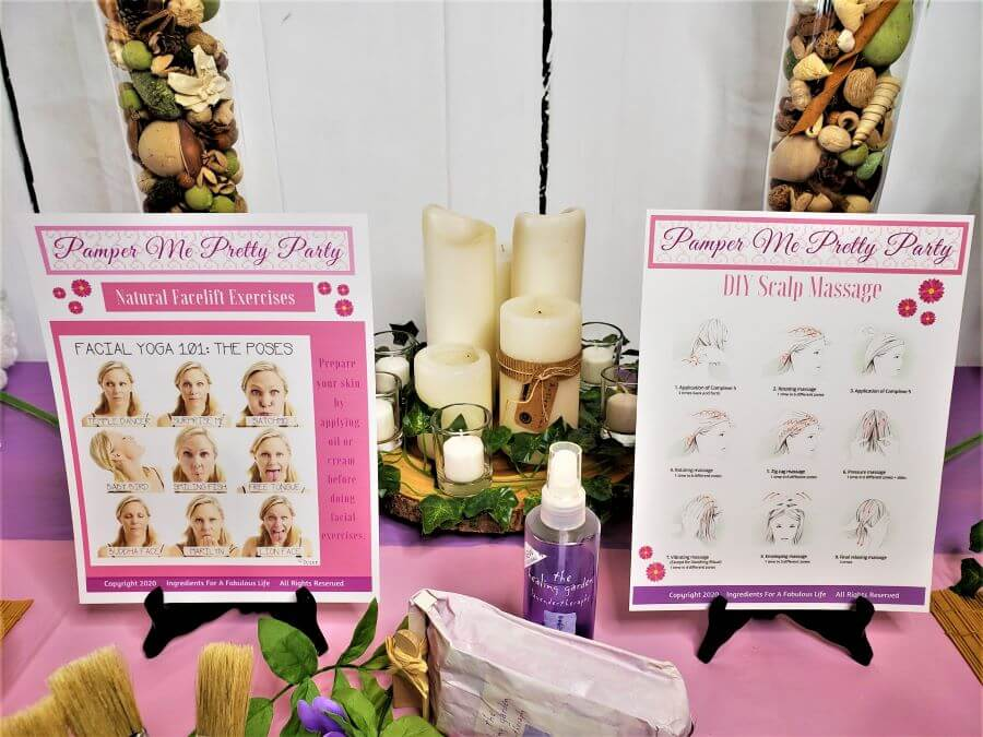 pamper me pretty party activity sheets