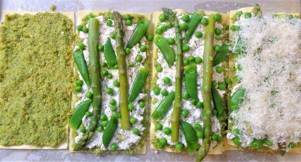 asparagus matzo terrines