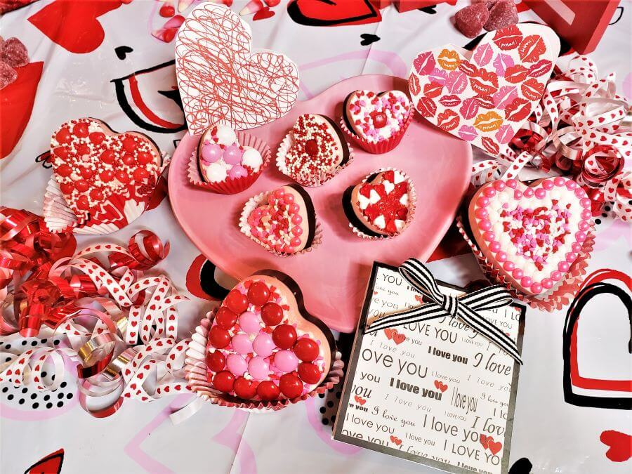 valentine candy hearts and printable gift tags