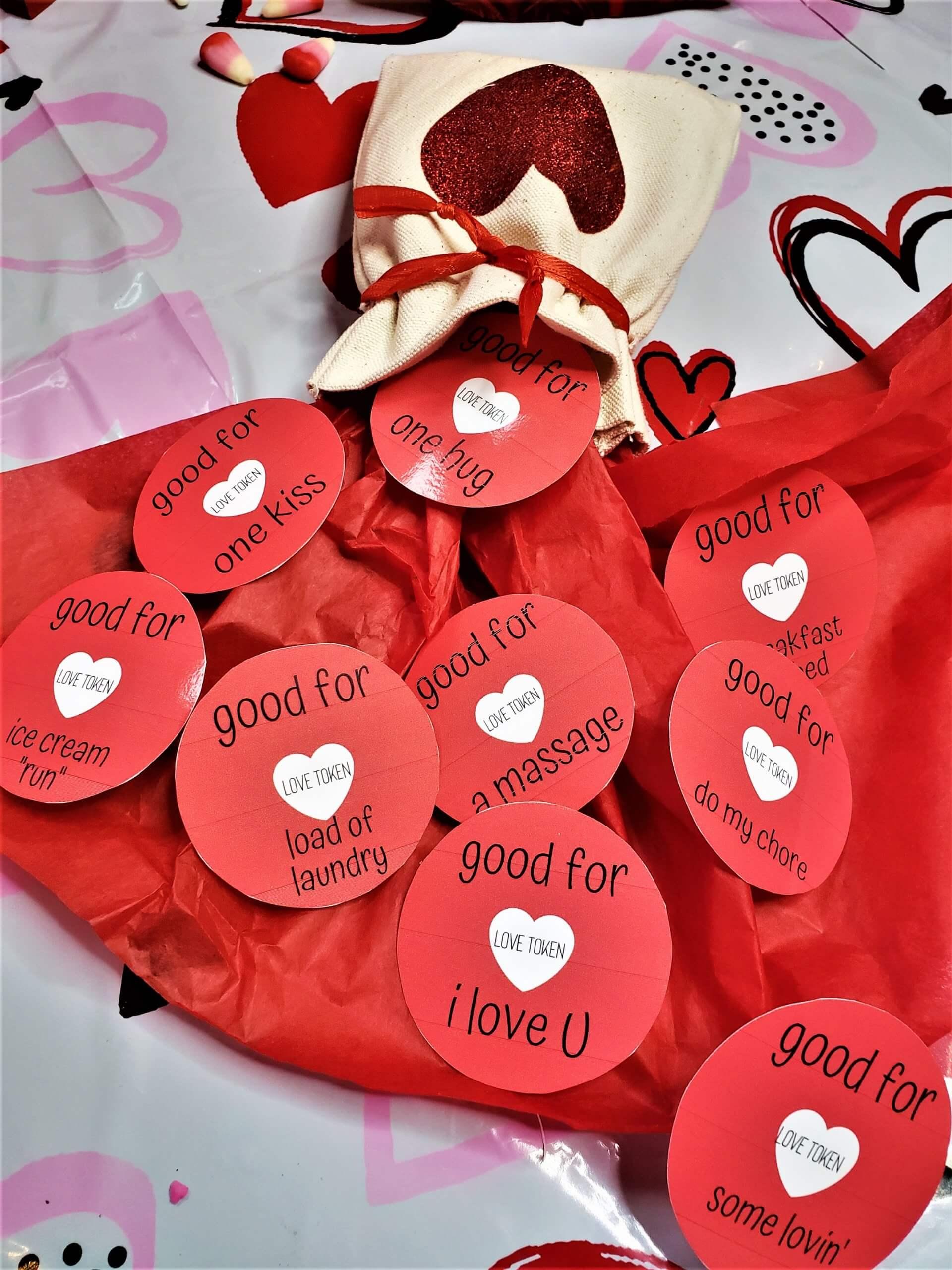 valentine's love tokens homemade gift