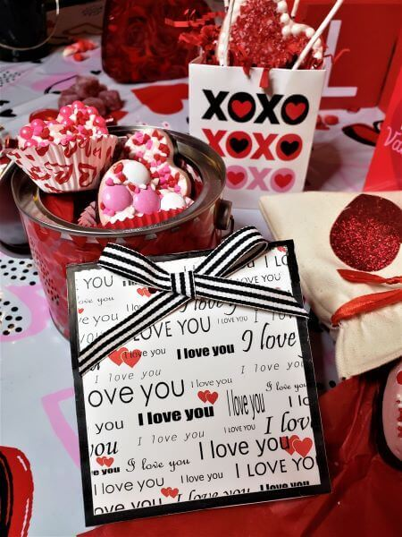 valentine's day fancy heart gift tags