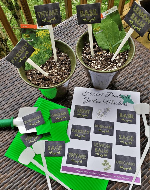 printable herb garden markers