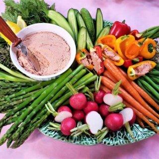 Spring Vegetable Platter with Ham Butter