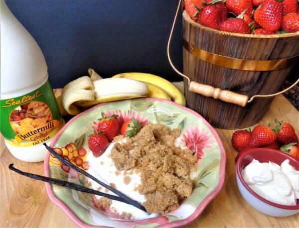roasted strawberry banana buttermilk sherbet