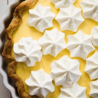 orange cream pie with halva-walnut crust