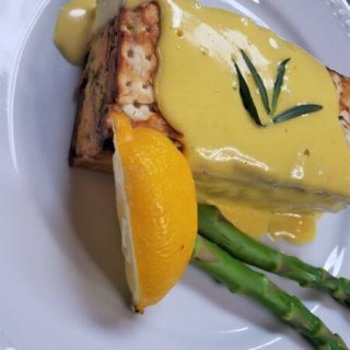 Asparagus Matzo Terrines with Blender Hollandaise Sauce