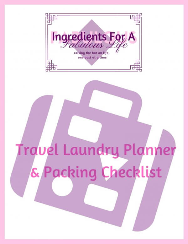 travel laundry planner and packing checklist