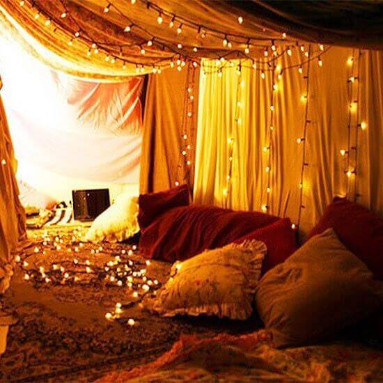 romantic evening at home