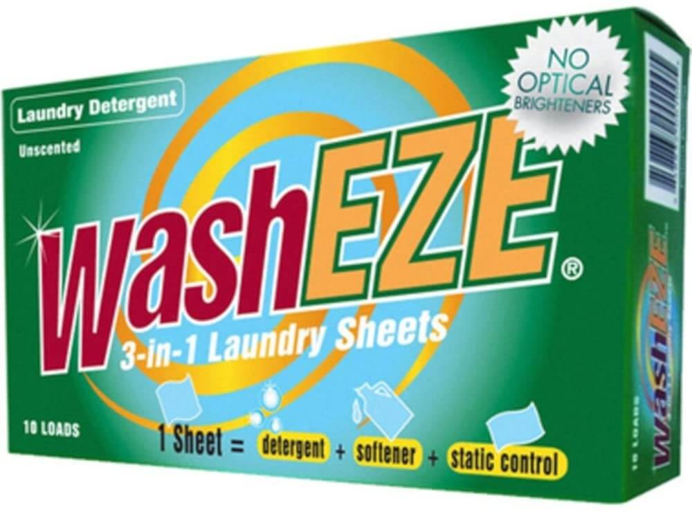 washeze travel laundry sheets