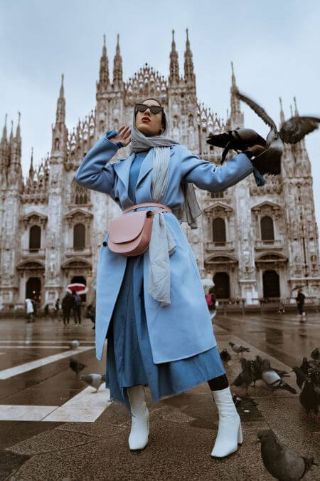 blue coat with pink purse how to wear pastels as neutrals