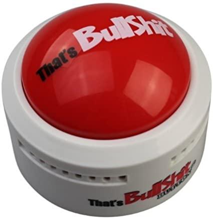 bullshit button novelty father's day gift ideas