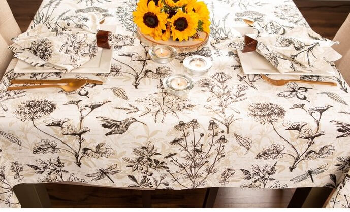 botanical tablecloth for stylish entertaining at home