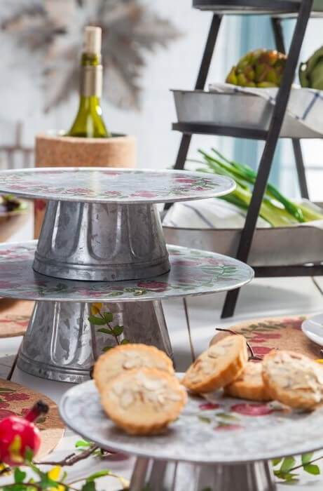 galvanized steel party items stylish entertaining at home
