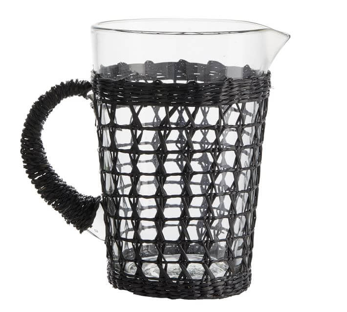 cane wrapped pitcher