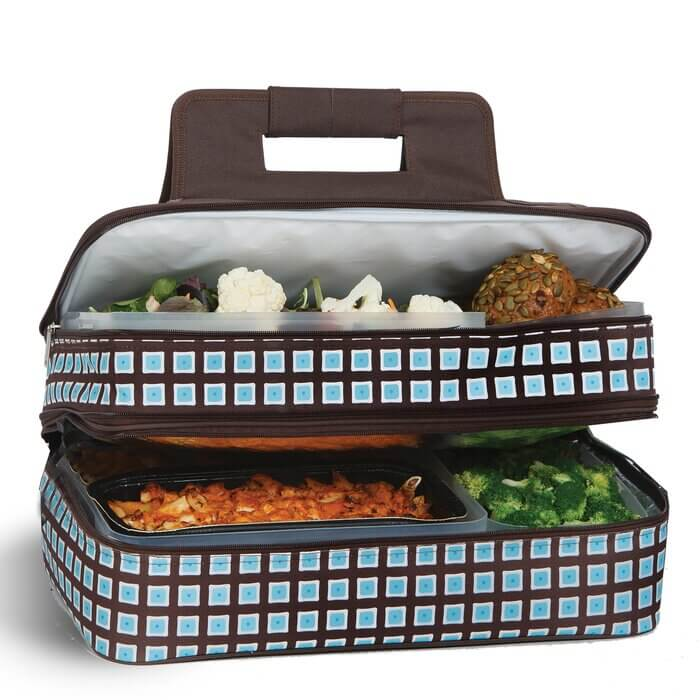 hot and cold insulated food carrier