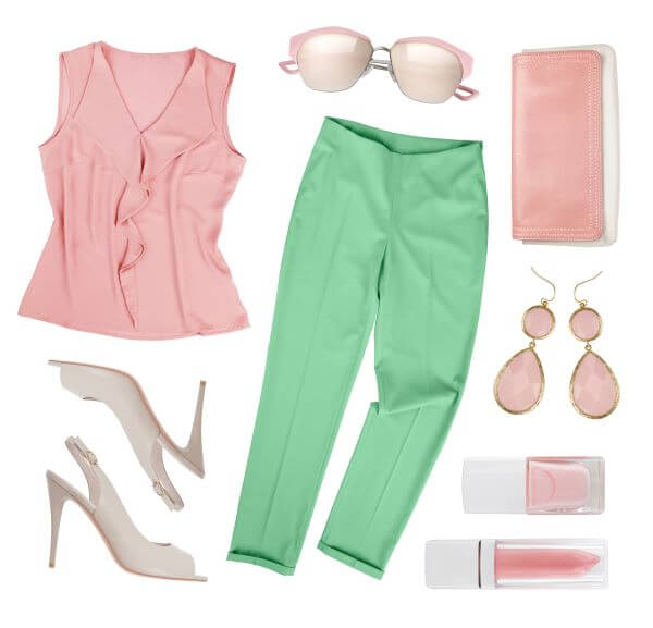 pink and mint green clothes