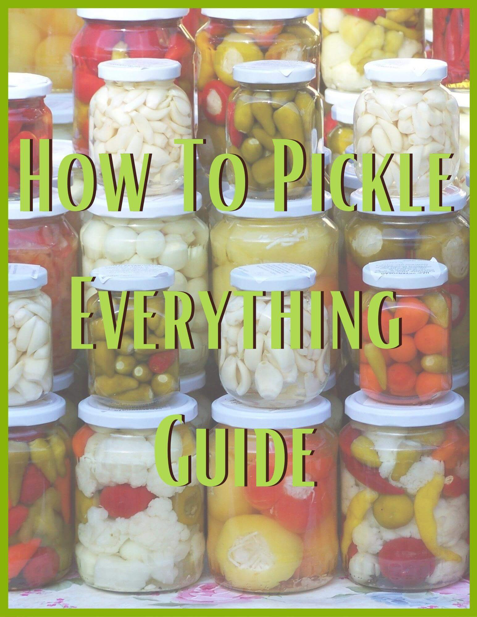 how to pickle everything guide