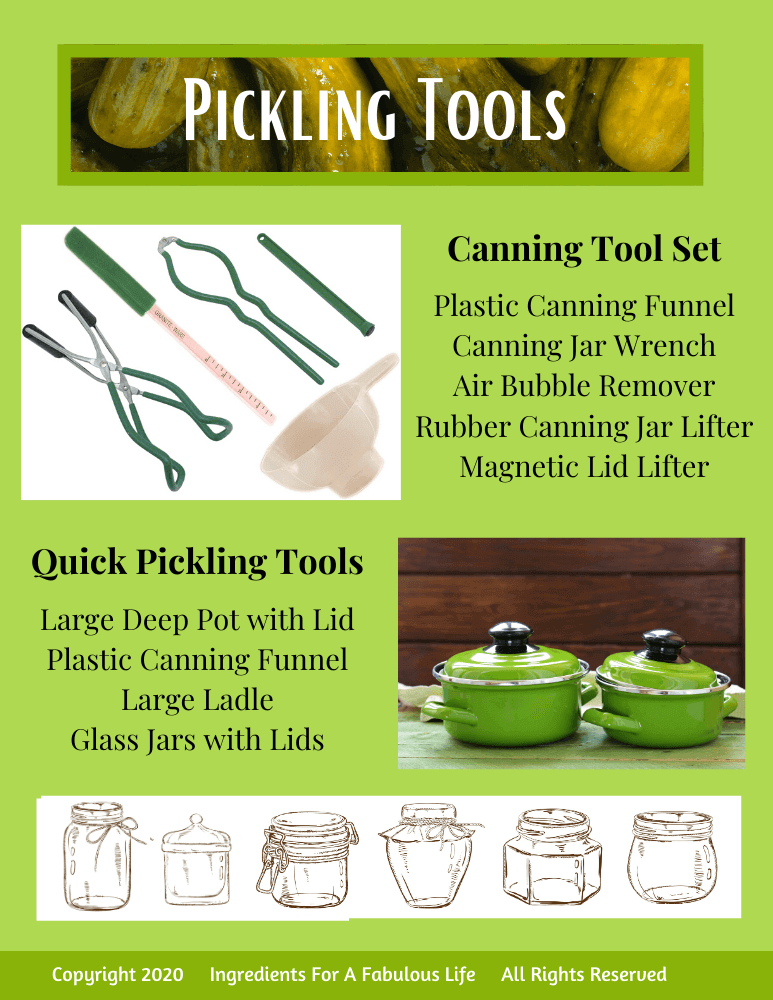 how to pickle everything guide pickling tools page