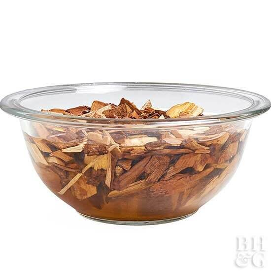 how to smoke foods wood chips in bowl of water