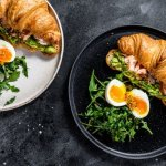 smoked fish and avocado brunch croissant